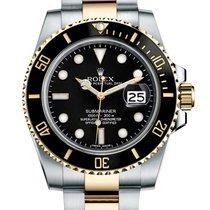 Rolex Submariner Two Tone Black Index Dial 116613 LN