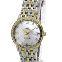 Omega De Ville Prestige White MOP Dial 27.4MM Diamonds Watch...