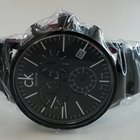 ck Calvin Klein CK Post Minimal Black Tone Dial Men's...