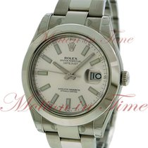 Rolex Datejust II 41mm, White Dial, Smooth Bezel - Stainless...
