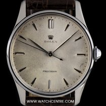 Rolex Stainless Steel Silver Dial Precision Vintage Gents 8051