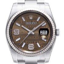 Rolex Datejust 36 mm Edelstahl / Weißgold 116234 Bronze Wave DIA