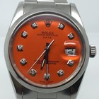 Rolex DATE 34MM AUTOMATIC RARE ORANGE DIAMONDS DIAL