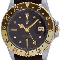 """Ρολεξ (Rolex) 2 Tone """"Chocolate"""" GMT ref 1675 circa 1978"""