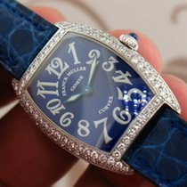 Franck Muller Curvex 1673 18k White Gold Factory diamond bezel...