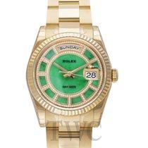 ロレックス (Rolex) Day-Date Green Jade/18k gold Dia Ø36mm - 118238