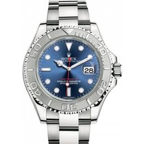 Rolex Yachtmaster 116622 Stainless Steel Platinum Bezel and...