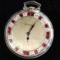 Patek Philippe Rare 1920s Art Deco Platinum Ruby Diamond...
