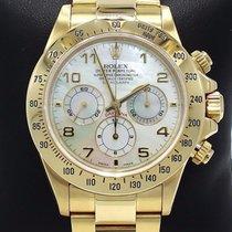 Rolex Daytona Zenith 16528 18k Yellow Gold Factory Mop Dial...