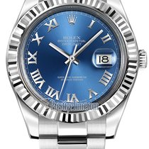 Rolex Oyster Perpetual Datejust II 116334 Blue Roman
