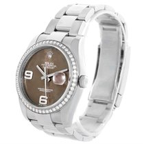 Rolex Datejust Steel White Gold Diamond Bronze Floral Dial...