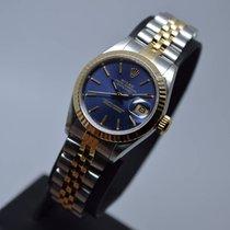 Rolex Datejust 26mm Date Blue 18K Gold Steel 69173 Mint