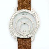 Chopard White Gold Happy Spirit Custom Diamond Watch