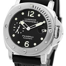 "Panerai Gent's Stainless Steel  PAM 24 44mm ""Luminor..."
