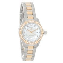 TAG Heuer Aquaracer Diamond Ladies Swiss Quartz Watch WAP1452....