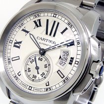 Cartier Calibre De Cartier W7100015 42 Mm Silver Roman Steel...