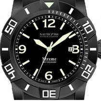 Nauticfish Xtreme 2000M Stahl Black PVD Automatik Superluminov...