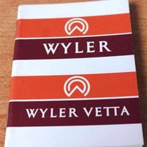 Wyler Vetta vintage warranty booklet rare newoldstock