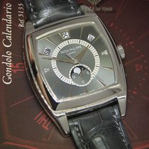 Patek Philippe Gondolo Calendario 5135 Platinum Diamond Watch...