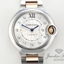 Cartier Ballon Bleu Medium Stahl Rosegold 750 Diamanten WE902061