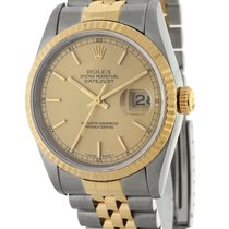 Rolex Datejust 16233 Steel & 18K Yellow Gold Champagne...