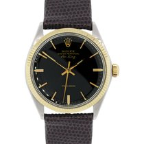 Rolex 5501 Air-King Precision Two Tone on Leather Strap Watch