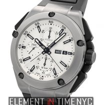 IWC Ingenieur Collection Double Chronograph Titanium Silver Dial