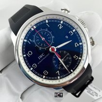IWC Portuguese Yacht Club Chronograph Black Dial Stainless