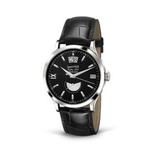 Eberhard & Co. Extra-Fort data al 12, quadrante nero, oro...