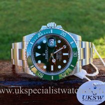 "롤렉스 (Rolex) Submariner ""Hulk"" 116610LV – UNWORN – UNUSED 2016"