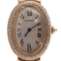 Cartier Baignoire Solid 18k Yellow Gold Factory Diamond Bezel...