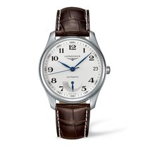 Longines Masters Collection Silver Dial Brown Leather 42mm ...