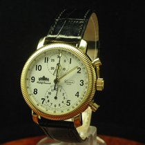Comor 18kt 750 Gold Chronograph Automatic Herrenuhr Homage...