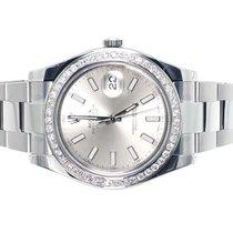 Rolex Custom Mens New 41 MM Silver Rolex DateJust II 2 With...
