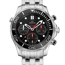 Omega Seamaster Diver 300M Co-Axial Chronograph 44mm Men's...