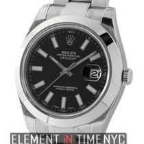 Rolex Datejust II Stainless Steel Black Index Dial