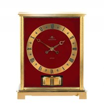 Jaeger-LeCoultre Atmos Embassy Gelbgold Bordeaux Rot Vintage...