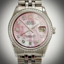 Rolex 1601 DateJust Custom MOP Diamond Dial & Bezel