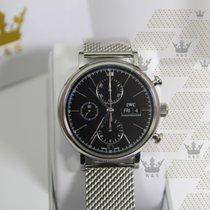 IWC IW391010 Portofino Chronograph Blk Dial Steel Bracelet