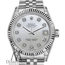 Rolex Woman's Rolex 36mm Datejust White Mop Mother Of...
