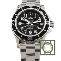 Breitling Superocean II 36mm Steel Black Dial NEW