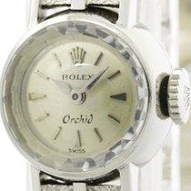 Rolex Vintage Rolex Orchid Steel Leather Hand-winding Ladies...