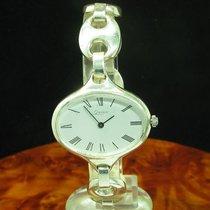 Quinn 925 Sterling Silber Handaufzug Damenuhr Silberuhr /...