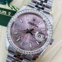 Rolex DATEJUST 36mm Pink Waves Diamond Dial