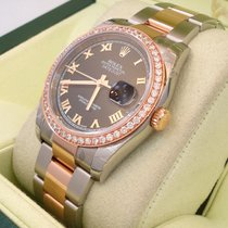 Rolex Ladies Datejust 116201 Oyster 18k Pink Gold & Ss...