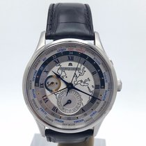 Maurice Lacroix Masterpiece Worldtimer On Black Strap 42mm Mp6008