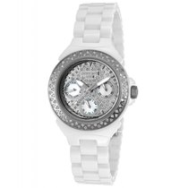 Lancaster Italy Lady Ceramic Pave Watch 36mm White 1.33 ct...