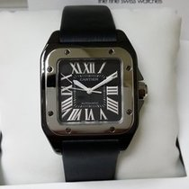 Cartier W2020008 Santos 100 Medium Size Automatic Black PVD [NEW]