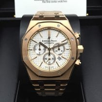 愛彼 (Audemars Piguet) 26320OR Royal Oak Rose Gold 41mm White...