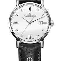 Maurice Lacroix Eliros Date Ladies White Dial, Diamonds, Black...
